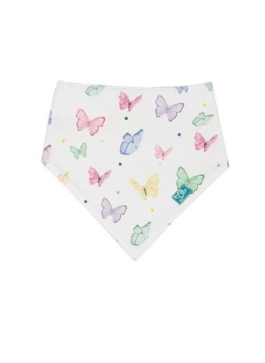 Nila Kids Nila Kids Butterfly Organik Renkli Kız Bebek Önlük Renkli